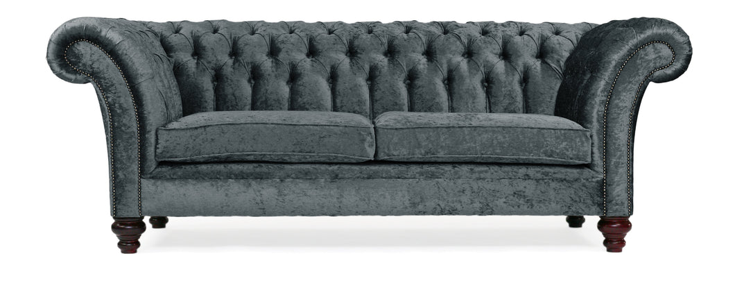 Milano Chesterfield Sofa, Midnight Zagros Velvet