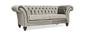 Milano Chesterfield Sofa, Steel Zagros