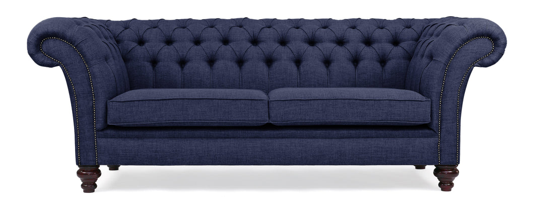 Milano Chesterfield Sofa, Blue House Linen