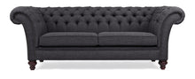 Load image into Gallery viewer, Milano Chesterfield Sofa, Charcoal House Linen
