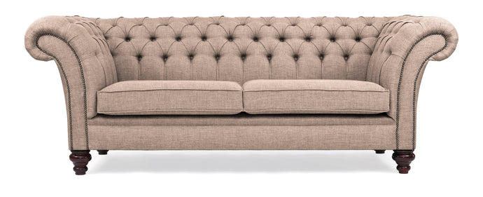 Milano Chesterfield Sofa, Cream House Linen