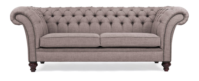 Milano Chesterfield Sofa, Sand House Linen