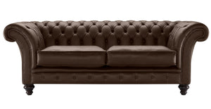 Milano Chesterfield Sofa, Brazil Bolero Leather