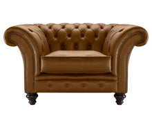 Load image into Gallery viewer, Milano Chesterfield Club Chair, Calvados Bolero Leather