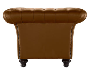 Milano Chesterfield Club Chair, Calvados Bolero Leather