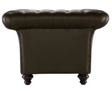 Load image into Gallery viewer, Milano Chesterfield Club Chair, Chocolate Bolero Leather
