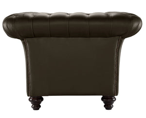Milano Chesterfield Club Chair, Chocolate Bolero Leather