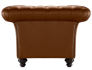 Milano Chesterfield Sofa, Tan Bolero Leather