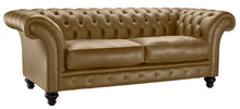 Load image into Gallery viewer, Milano Chesterfield Sofa, Toast Bolero Leather