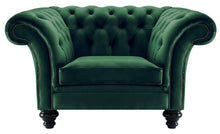 Load image into Gallery viewer, Milano Chesterfield Club Chair, Bottle Boutique Velvet