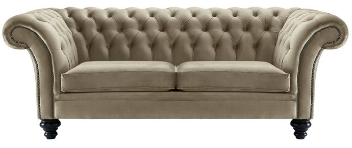 Milano Chesterfield Sofa, Cedar Boutique Velvet