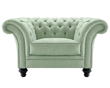 Load image into Gallery viewer, Milano Chesterfield Club Chair, Aqua Dakota