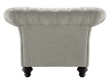 Load image into Gallery viewer, Milano Chesterfield Club Chair, Silver Dakota
