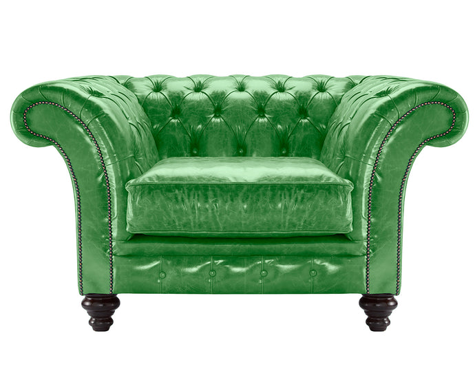 MIlano Chesterfield Club Chair, Amazon Lustro Leather
