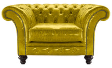 Load image into Gallery viewer, MIlano Chesterfield Club Chair, Saffron Lustro Leather