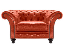Load image into Gallery viewer, MIlano Chesterfield Club Chair, Vermilion Lustro Leather