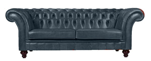 Milano Chesterfield Sofa, Ocean Old English Leather