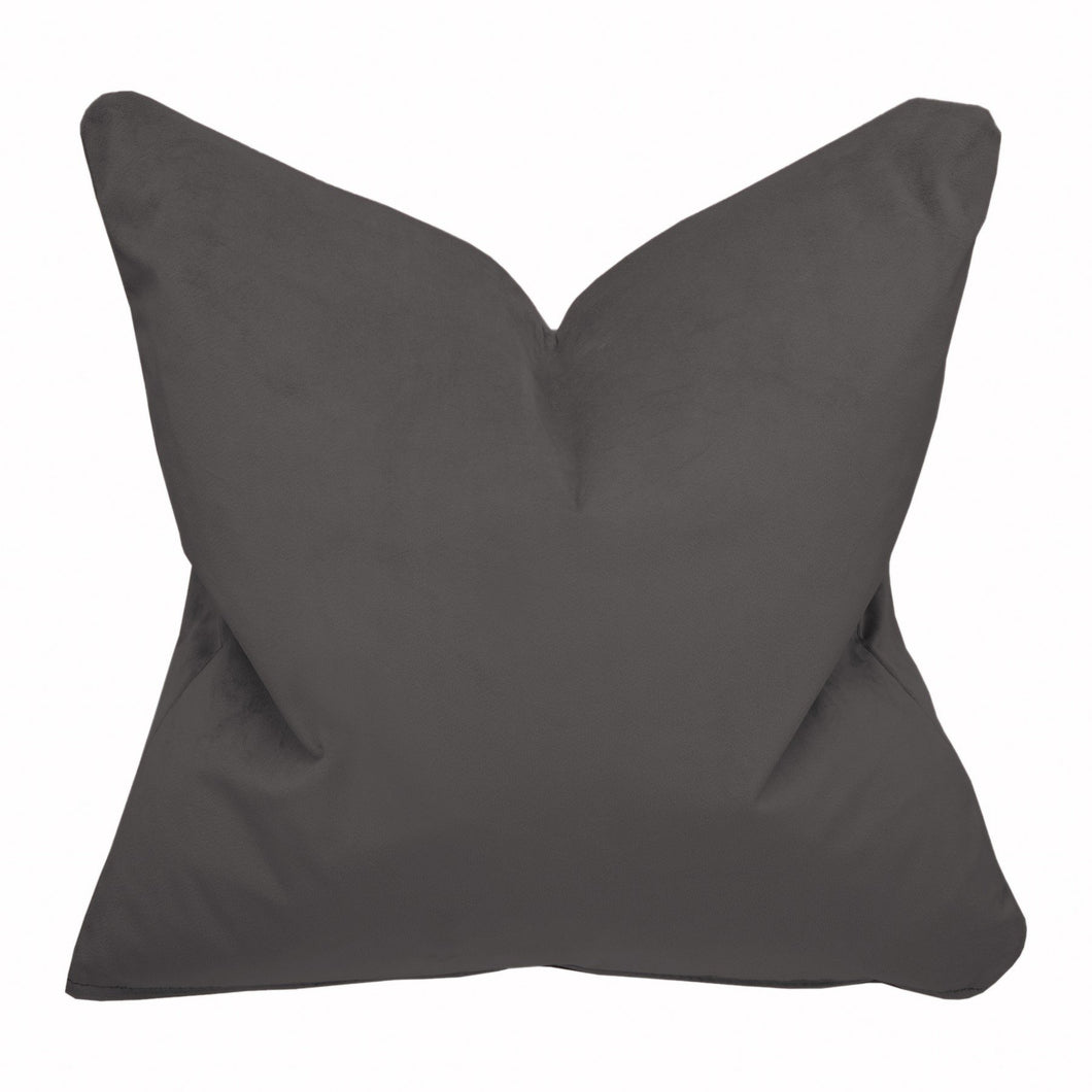 Boutique Velvet Grey Cushion