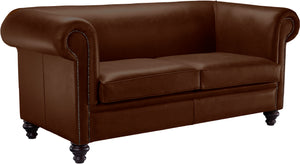 Novara Chesterfield Sofa, Hazel Old English Leather