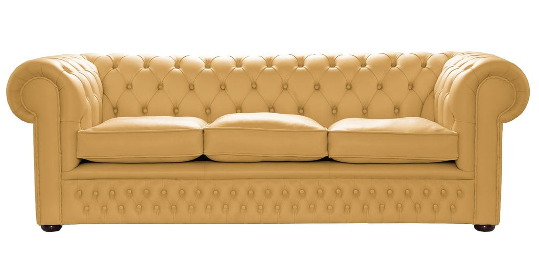 1694 Chesterfield Sofa, Sand House Leather