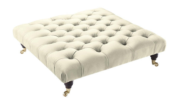 Allure Velvet Cream Savoy Footstool