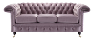 Savoy Chesterfield Sofa, Lavender Allure Velvet