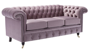 Savoy Chesterfield Sofa, Lavender House Velvet