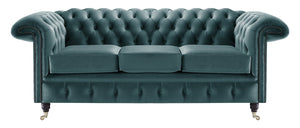 Savoy Chesterfield Sofa, Blue House Velvet