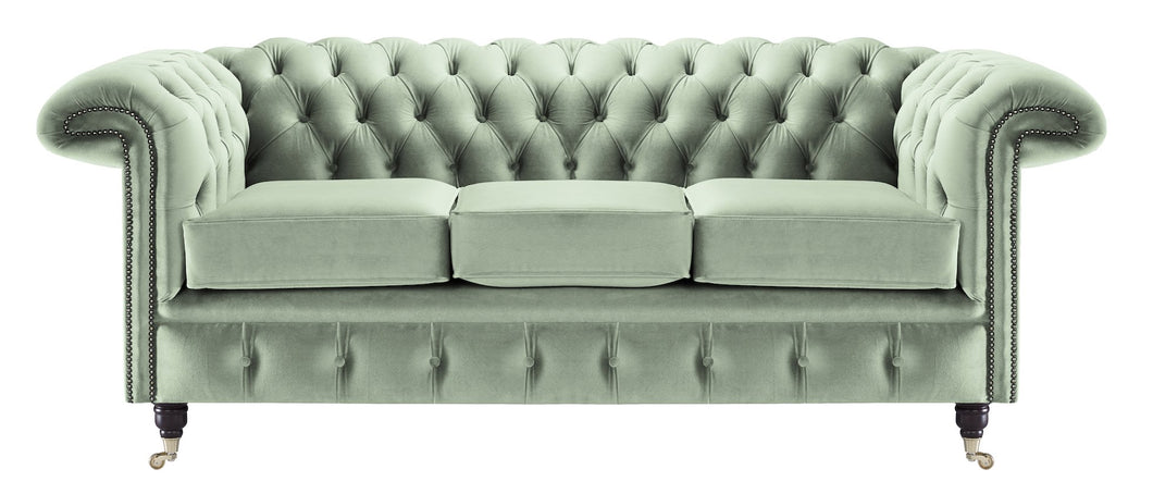Savoy Chesterfield Sofa, Sky House Velvet