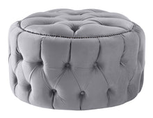 Load image into Gallery viewer, Boutique Velvet Silver Nuvol Footstool