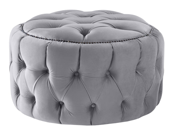 Boutique Velvet Silver Nuvol Footstool