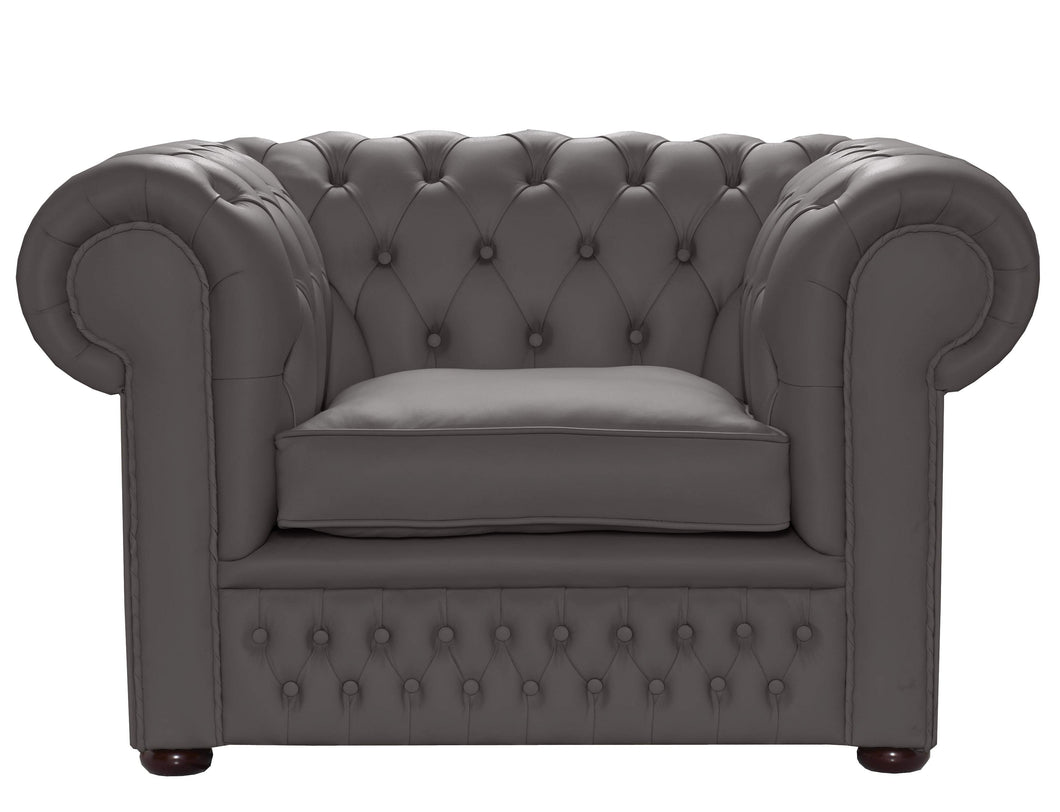 1694 Chesterfield Club Chair, Steel House Leather