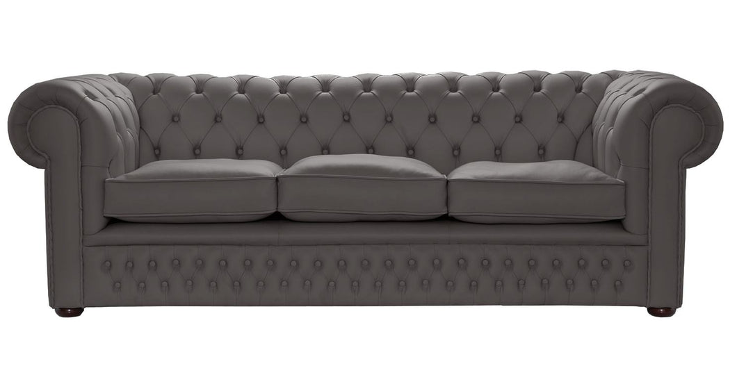 1694 Chesterfield Sofa, Steel House Leather