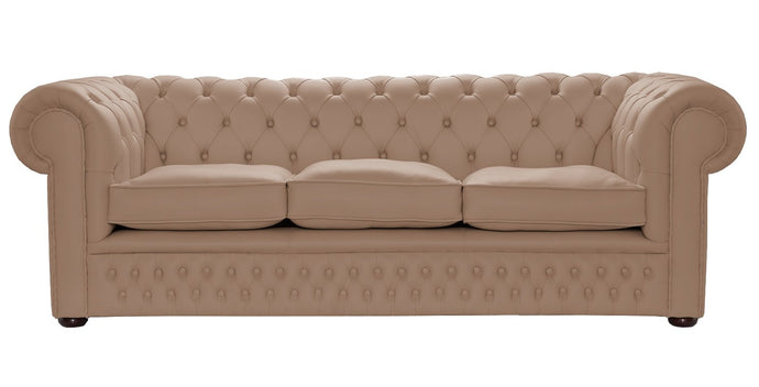 1694 Chesterfield Sofa, Stone House Leather