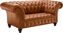 Load image into Gallery viewer, Venetia Chesterfield Sofa, Bruciato Old English Leather
