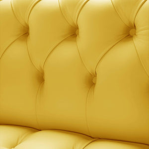 Venetia Chesterfield Sofa, Yellow House Leather