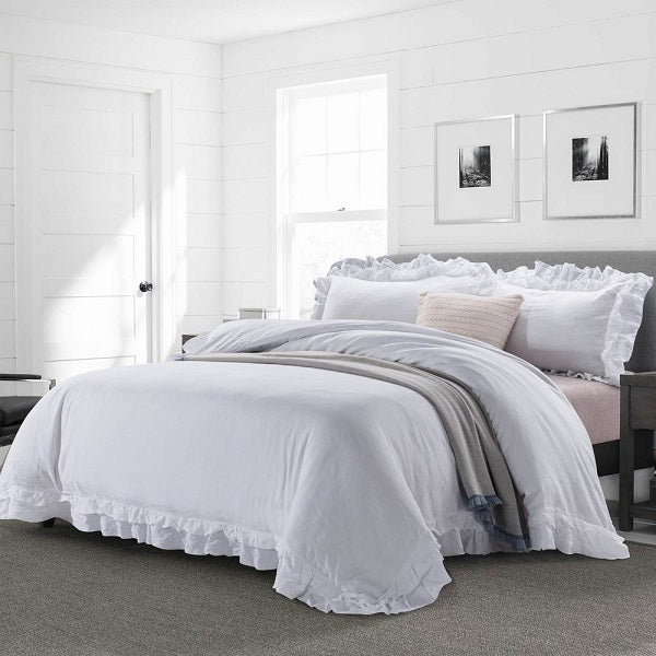 Ruffled Linen Bedding