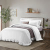 Wholelinens Linen Duvet Cover Set-Stone Washed Ruffle with Ties Closure - Wholelinens