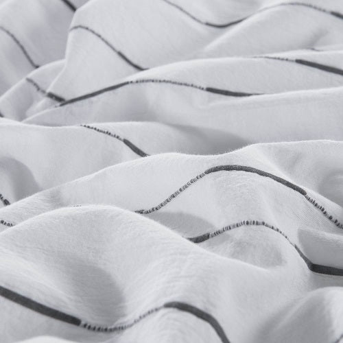 Wholelinens Cotton Duvet Cover Set-Washed Woven Pintuck Texture - Wholelinens