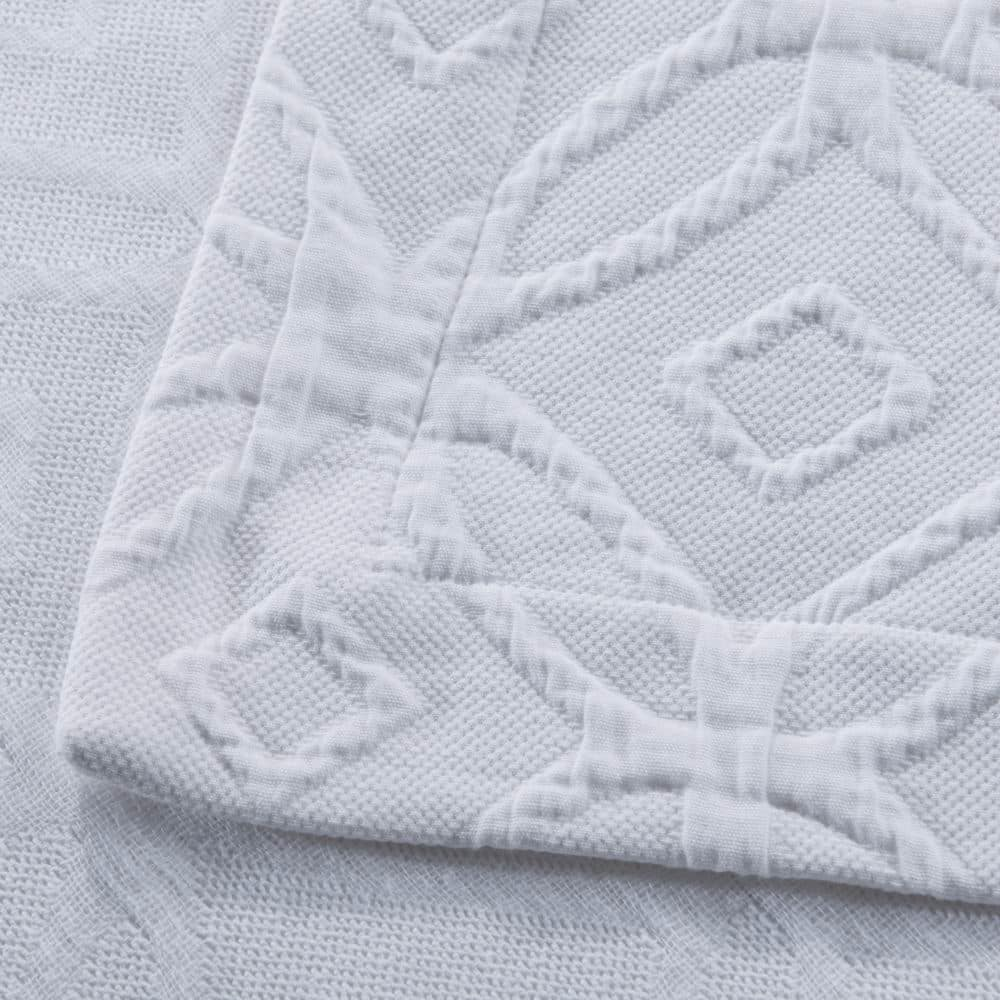 Wholelinens Cotton Matelasse Coverlet Set- Double Rings - Wholelinens