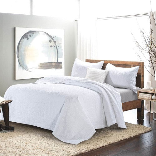 Wholelinens Cotton Matelasse Coverlet Set, Pre-Washed Textured Jacquard - Wholelinens