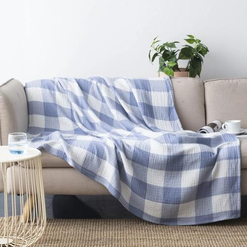 Wholelinens Cotton Throw Blanket- Buffalo Check - Wholelinens