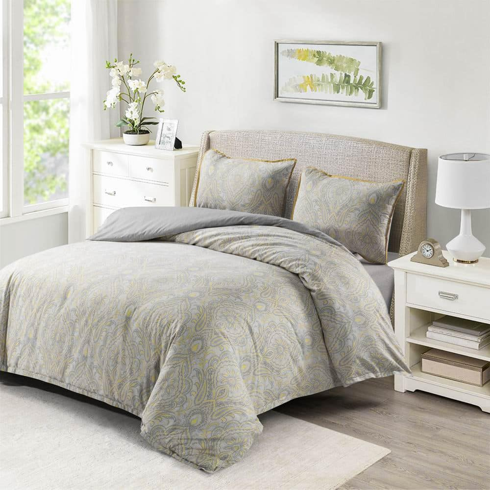 Wholelinens Washed Cotton Duvet Cover Set-Paisley Pattern - Wholelinens