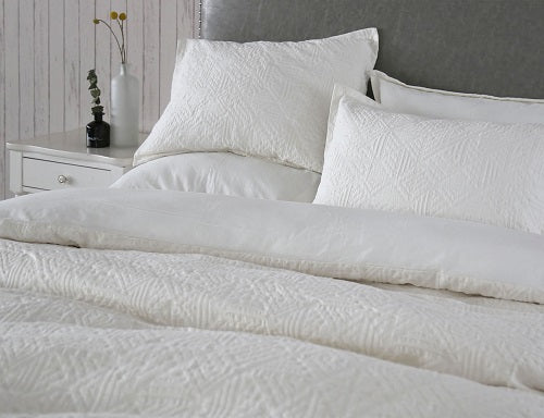 Wholelinens Cotton Matelasse Duvet Cover Set-Geo - Wholelinens