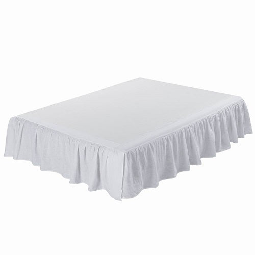 Wholelinens Linen Bed Skirt-Washed Dust Ruffle - Wholelinens