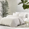 Wholelinens Linen Duvet Cover Set-Stone Washed, Ruffled Edge - Wholelinens