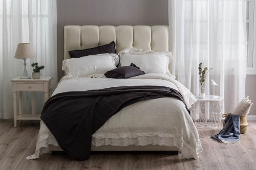 Wholelinens Linen Duvet Cover Set-Stone Washed Petticoat - Wholelinens