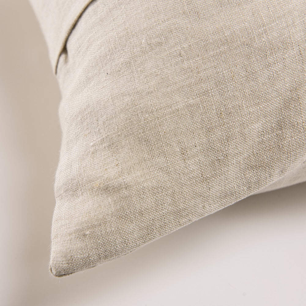 Wholelinens Stone Washed Linen Pillow Cover, Coconut Button, Natural - Wholelinens