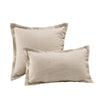 "Wholelinens Stone Washed Linen Pillow cover,1"" Flange, Natural - Wholelinens"