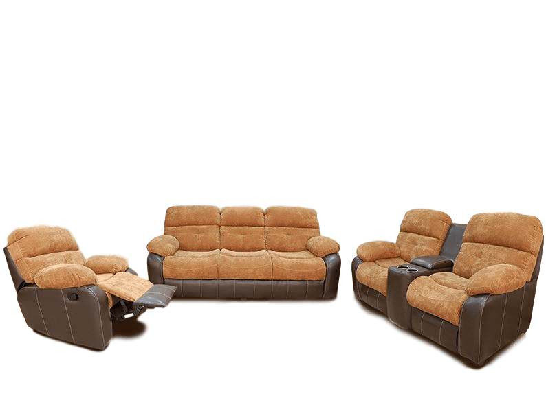 Sala Duke con reclinable y portavasos  3 piezas ( sofa, love seat, sillon) - Alveta Design